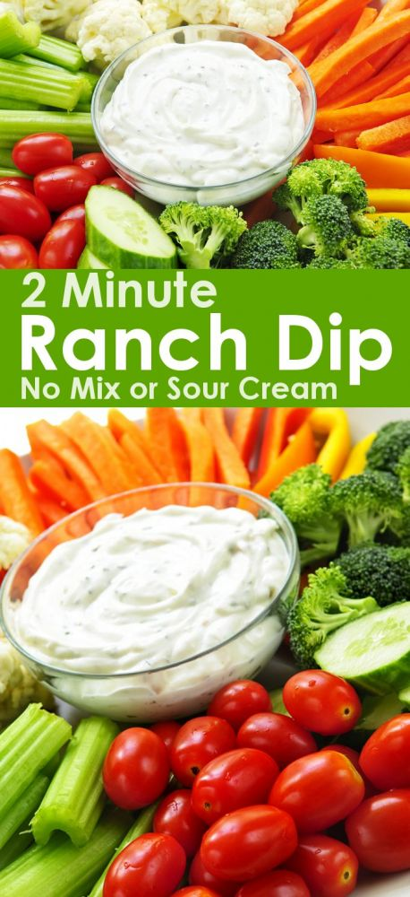 Easy ranch dip no sour cream.