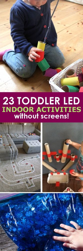 These 23 toddler led activities will give you a little break without leaving that guilty feeling that comes with just handing them a screen!