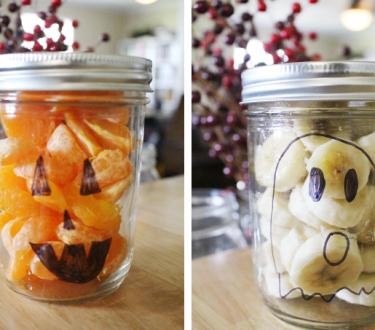 Healthy Halloween Mason Jar Treats