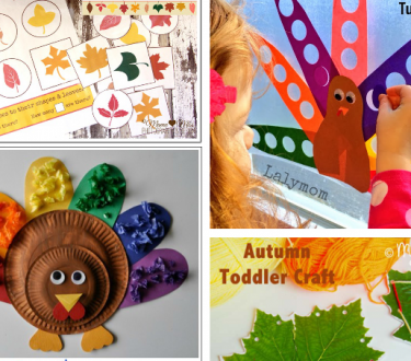 Mess Free Fall Holiday Crafts for Kids