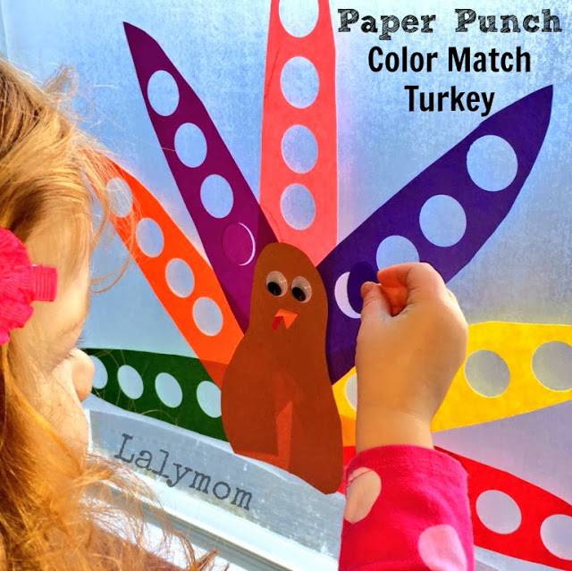 Fine motor activity color sorting fall crafts for kids
