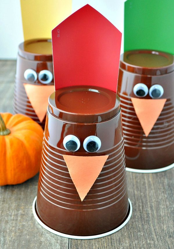 fall crafts for kids - turkey bowling family game
