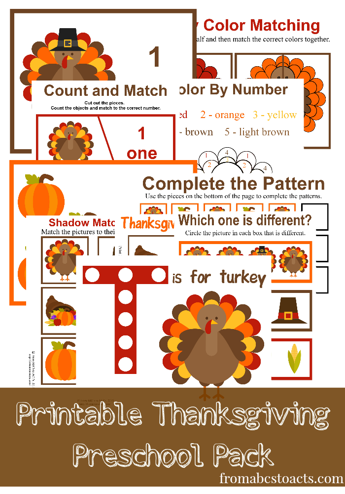 Thanksgiving preschool activities fall crafts for kids