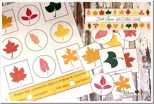 Printable leaf matching game fall crafts for kids