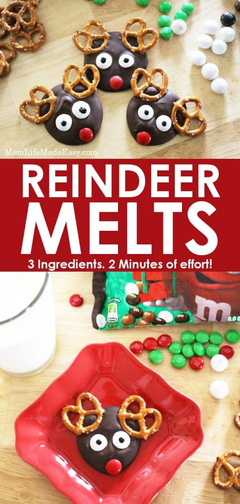 Easy Christmas Treat For Kids Reindeer Melts 3 Ingredients