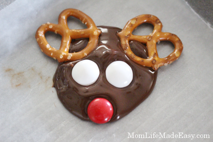 melted chocolate candy christmas treat ready for eyes