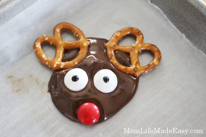 melted chocolate candy christmas treat eyes added