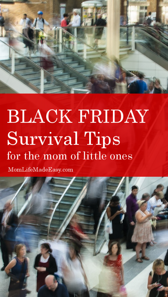 It would be far easier to just avoid the whole event, but when you are trying to save money and still give great gifts, it's very tempting to participate in the madness! Here are a few Black Friday survival tips for those of us with little ones!