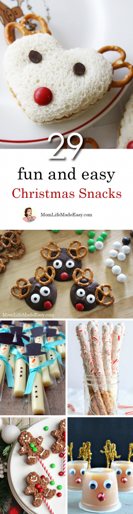 Creating fun Christmas snacks for kids shouldn't take hours of work. Here are 29 quick and easy holiday treats that are perfect for lunches, classroom parties, or just because! Whether you're looking for something healthy, easy, or just plain fun, this list has the perfect holiday treat for you!