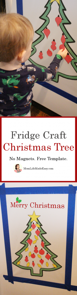This easy, magnet free Christmas craft for toddlers is the perfect way to keep those little hands busy during the holiday season! Plus, the entire template is ready to download for free right now!