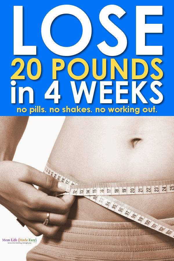 lose weight fast 20 pounds in 4 weeks