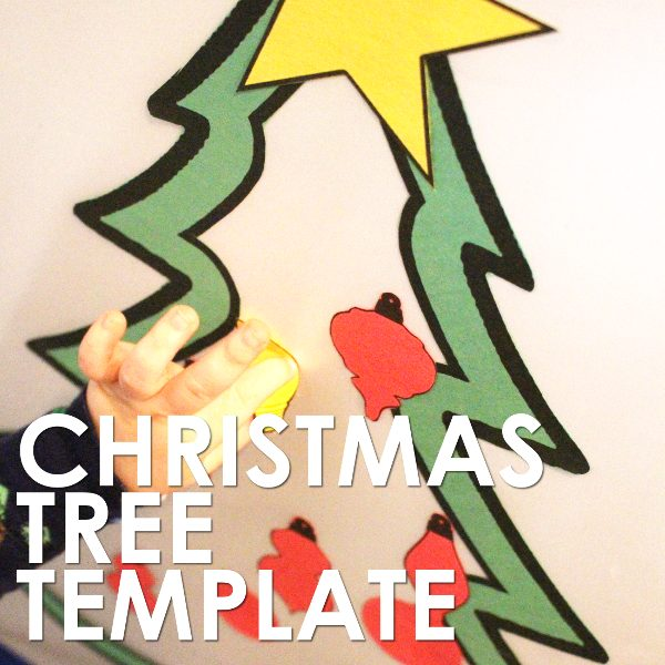 Christmas tree craft template for contact paper