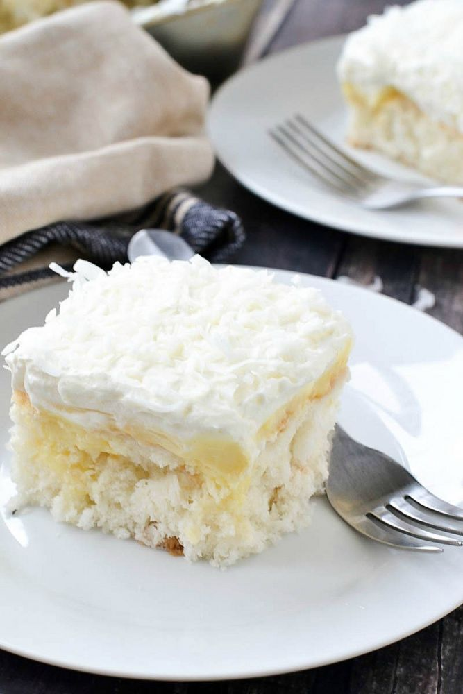easy coconut poke cake dessert recipe