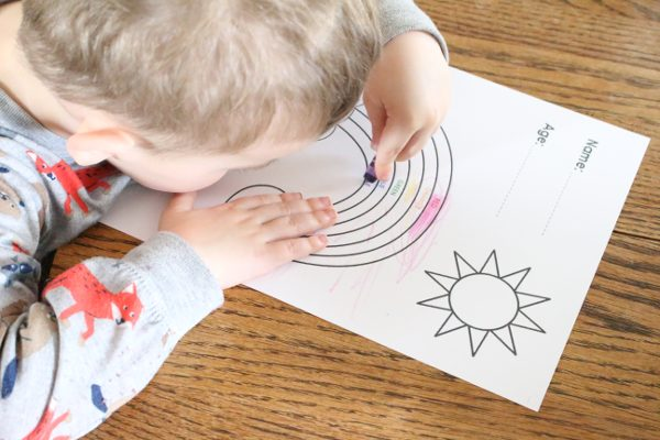 Toddler Craft: Irish Blessing Rainbow Coloring Page   I love a good Irish blessing any day, but they are usually only remembered on St. Patrick's Day. This Irish blessings rainbow coloring page is the perfect way to celebrate the holiday!