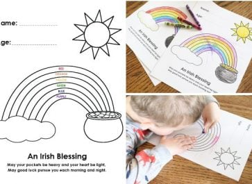 Irish Blessing Rainbow Coloring Page