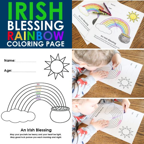 Irish Blessing coloring page promo image