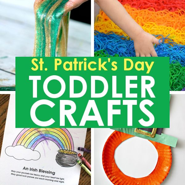 St. Patrick's Day Toddler Crafts, Rainbow & Shamrock Crafts: These toddler St. Patrick's Day crafts will help you keep your kids entertained and happy while celebrating this fun Irish holiday!