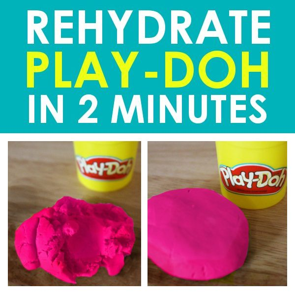It's crazy easy and only takes about 1-2 minutes to rehydrate Play Doh! If you have kids, this is a life hack you need to know!