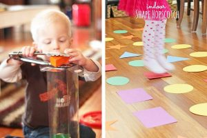 """TODDLER GAMES: Indoor toddler games are great to have on hand for rainy days, cold days, hot days, or just plain """"I need a break"""" days! With these 14 toddler games, you'll be ready to entertain your toddler no matter why you need to stay indoors!"""