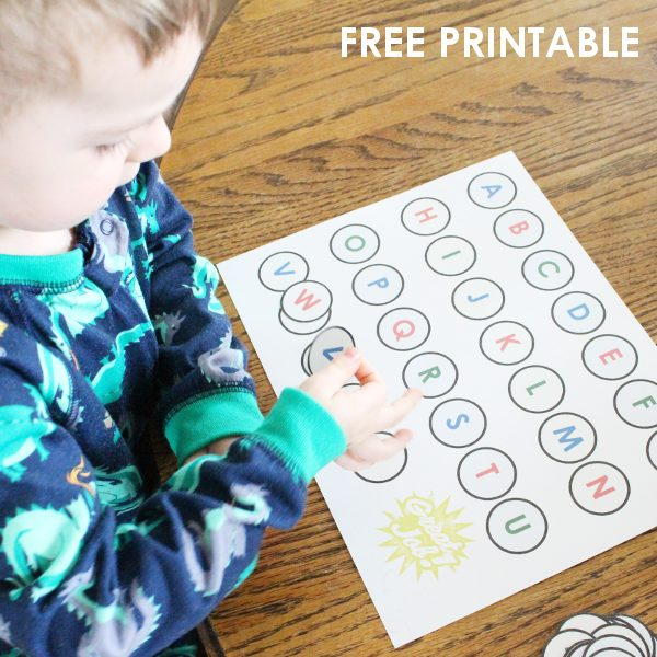 Teaching Toddlers Letters with A FREE Letter Matching Game