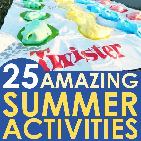 summer activities for kids, shaving cream twister