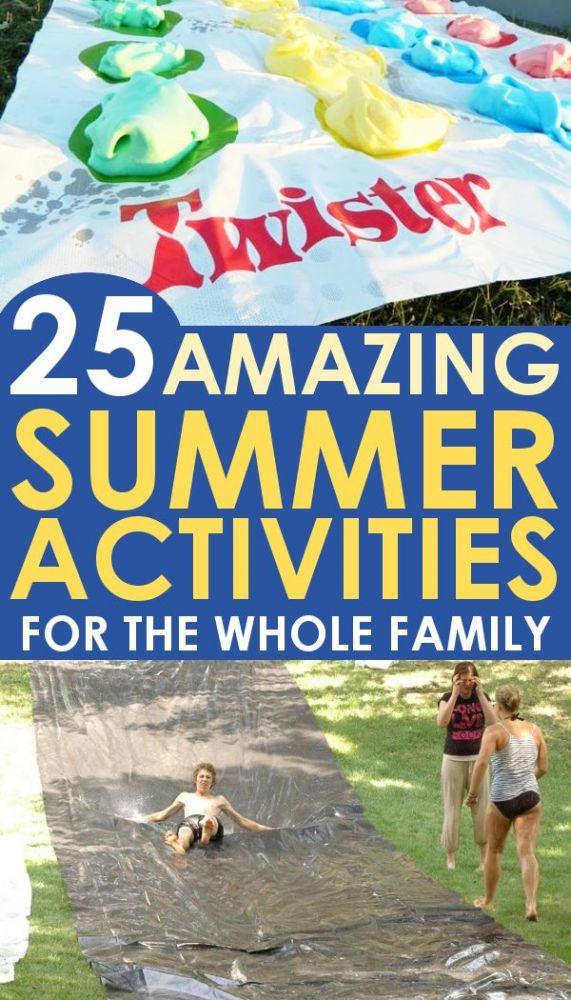 kids playing various fun summer activities