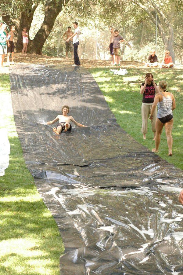 DIY giant slip and slime game