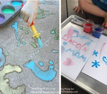3 Paint Recipes for Toddlers