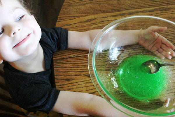 Adding Contact Solution to DIY Slime Recipe - How to make slime