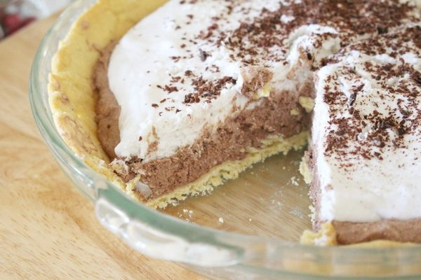 Low carb chocolate pie