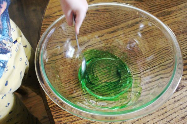 Mixing Homemade DIY Slime Recipe - How to make slime