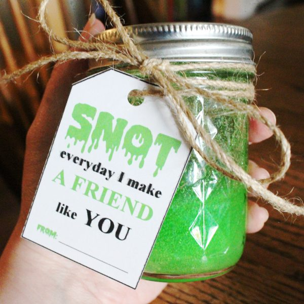 Snot Slime Kid Gift Class Gift Christmas - DIY Slime Recipe Finished in hand Square