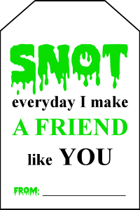 Snot Slime Gift Tag preview