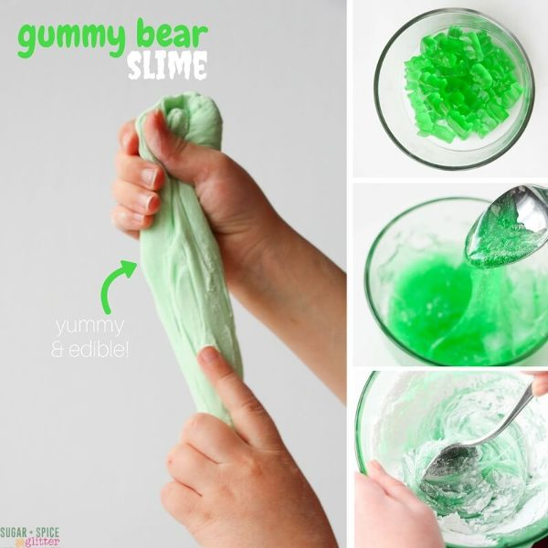 edible gummy bear slime made without glue