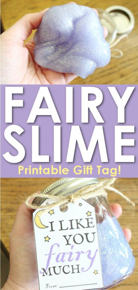 Fairy Glitter Slime Recipe with Gift Tag