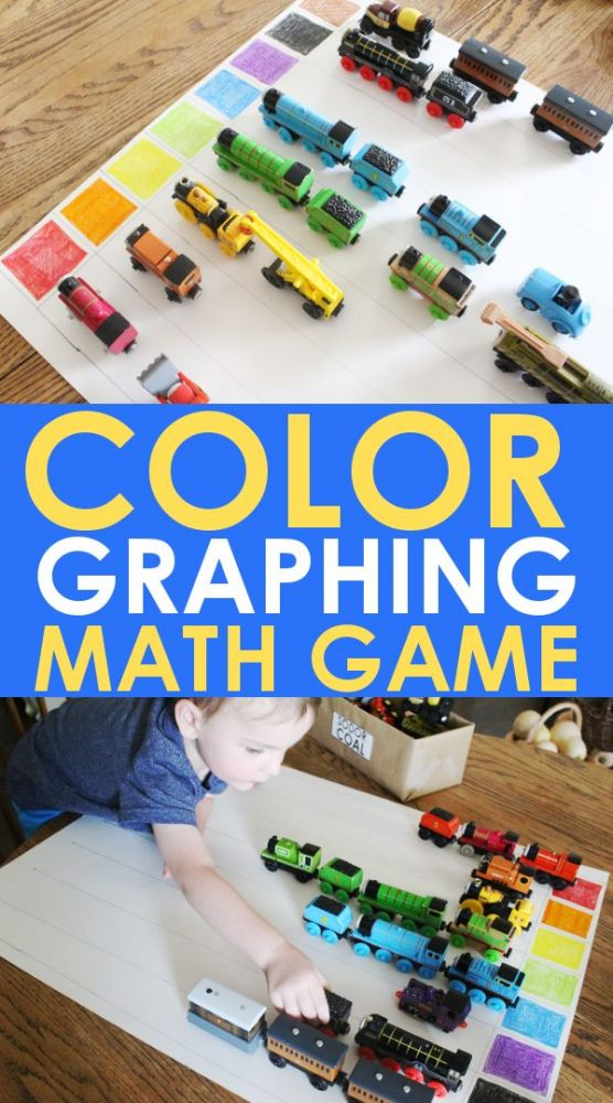 color graphing activity - kindergarten math games