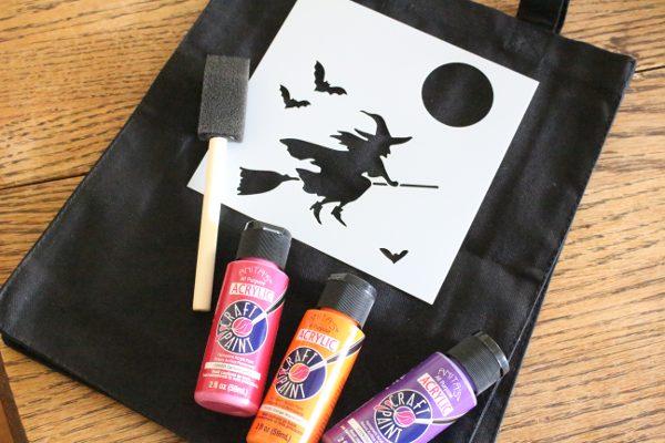 DIY Halloween treat bags supplies