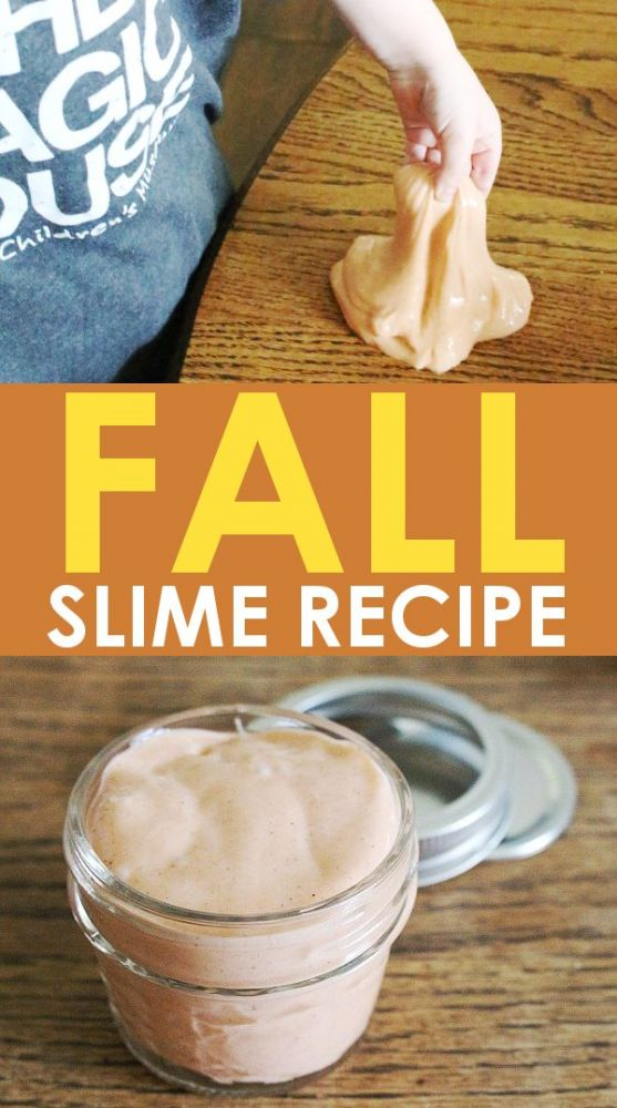 Fall slime recipe