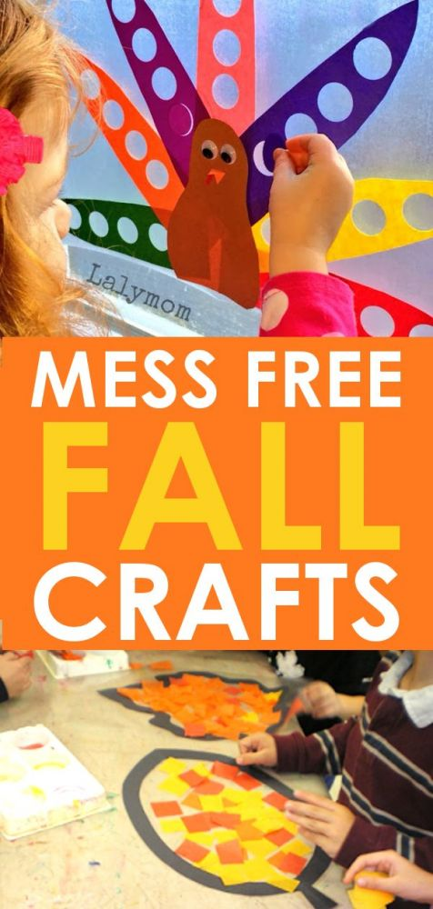 Fall Crafts For Kids 11 Mess Free Fall Holiday Crafts And Activities