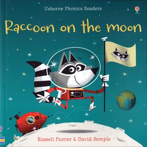 phonics reader kindergarten book raccoon on the moon