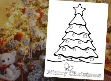 Adorable Christmas Coloring Page