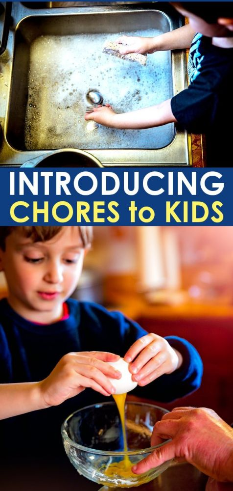 Introducing age appropriate chores for kids