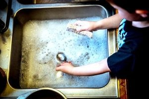 Washing dishes chores for kids