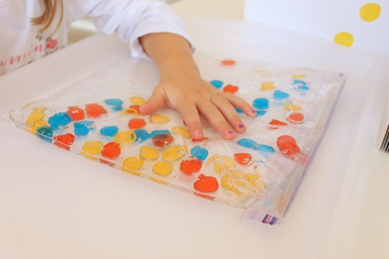 magnetic polka dot sensory toddler activity