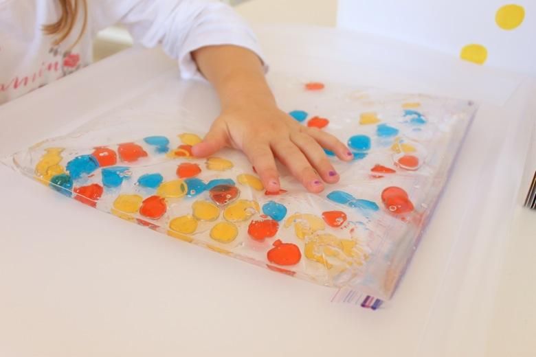 magnetic polka dot sensory toddler activity
