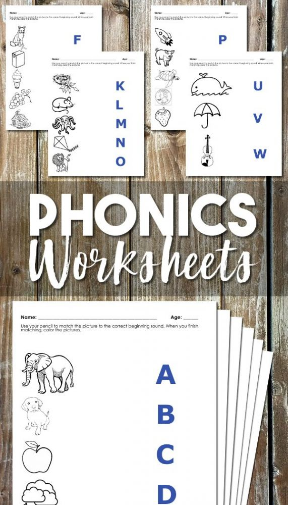Phonics Worksheets For Beginning Sounds Mom Life Made Easy