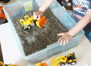 Gravel Pit DIY indoor activity for kids