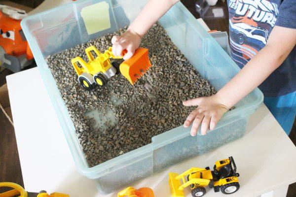 Gravel Pit DIY indoor activity for kids