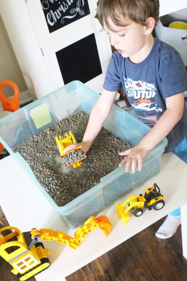 Gravel Pit indoor activity for kids