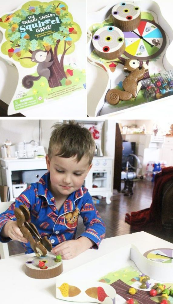 Preschool board game review sneak snacky squirrel